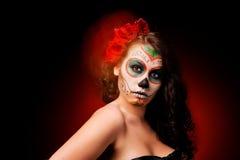 Woman in makeup for Dia De Los Muertos Stock Photography