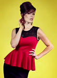 Woman with makeup in fashion clothes Royalty Free Stock Photos