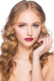 Woman with makeup and hairstyle Stock Photo
