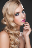 Woman with makeup and hairstyle Royalty Free Stock Images