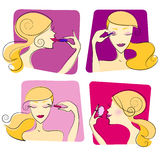 Woman makeup illustration royalty free illustration