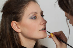 Woman makeup Stock Images