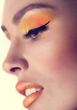 Woman with makeup Stock Images