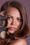 Woman with makeup Royalty Free Stock Photo