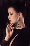 Woman with makeup and precious decorations Royalty Free Stock Photography