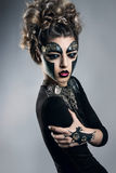 Woman with makeup Steampunk Stock Image