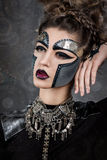 Woman with makeup Steampunk Royalty Free Stock Image