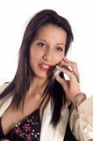 Woman Making A Call Royalty Free Stock Photos