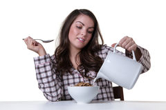 Woman making breakfast Royalty Free Stock Photo