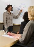 Woman Making A Business Presentation Stock Photo