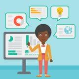 Woman making business presentation. Stock Image