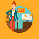 Woman making business presentation. Stock Photography