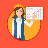 Woman making business presentation. Royalty Free Stock Image