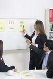 Woman making a business. Presentation to a group Stock Image