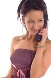 Woman making call Stock Images