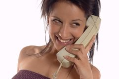 Woman making call Royalty Free Stock Images