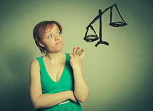 Woman making the choice Stock Photography