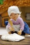 Woman Making Cotton Stock Photo