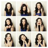 woman making diferent expressions Stock Photos