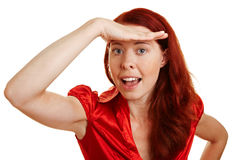 Woman making discovery Stock Image