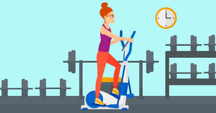 Woman making exercises. Royalty Free Stock Images