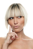 Woman making expression Stock Photography