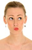 Woman making face royalty free stock image