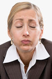 Woman making a face Stock Photography