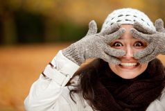 Woman making faces Stock Photography