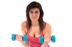Woman making fitness exercise Stock Photography