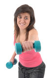 Woman making fitness exercise Royalty Free Stock Photo