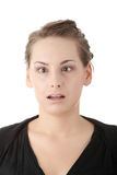 Woman making a funny face. Stock Images