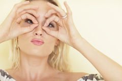 Woman making a funny face Royalty Free Stock Photography