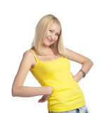Woman making a funny face Stock Images