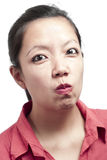 Woman Making Funny Face Royalty Free Stock Photography
