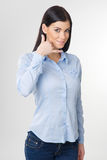 Woman making gesture Stock Photography