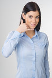 Woman making gesture Royalty Free Stock Images