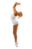 Woman is making gymnastic exercises Royalty Free Stock Photography
