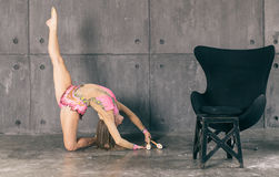 Woman making gymnastic Royalty Free Stock Photography