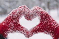 Woman making heart symbol Stock Photos