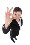 Woman making her ok sign Royalty Free Stock Images