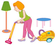 Woman making house cleaning