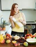 Woman making  milkshake Royalty Free Stock Photo