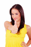 Woman making ok sign Stock Photography