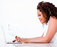 Woman making an online payment Stock Image