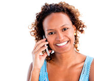 Woman making a phone call Royalty Free Stock Photo