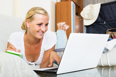 Woman making planning list Stock Photography