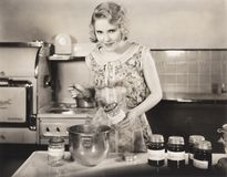 Woman making preserves Royalty Free Stock Image