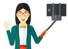 Woman making selfie Royalty Free Stock Photo