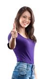 Woman making thumbs up sign Royalty Free Stock Image
